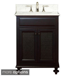 Water Creation London 24-inch Dark Espresso Single Sink Bathroom Vanity