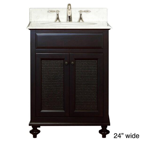 Water Creation London 24-inch Dark Espresso Single Sink Bathroom Vanity