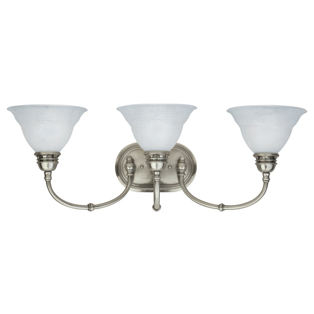 Aztec Lighting Transitional 3 light Bath/Vanity in Antique Pewter