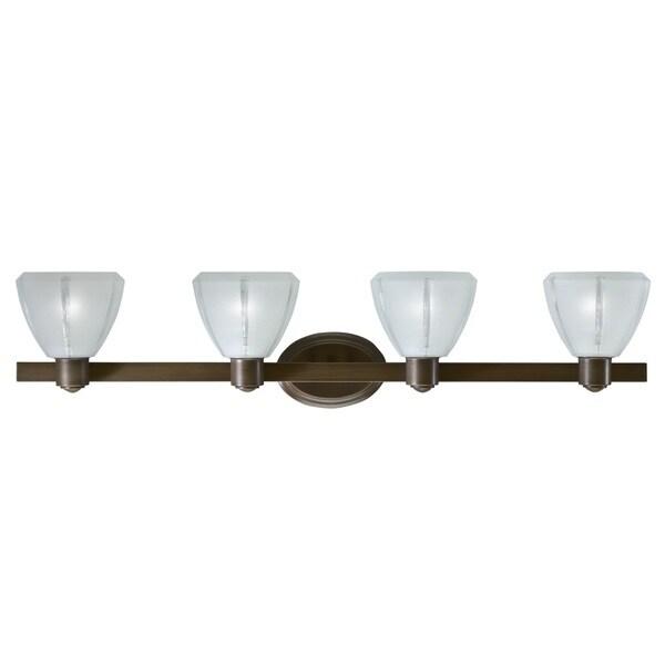 Transitional 4 light Bath/Vanity in Olde Bronze