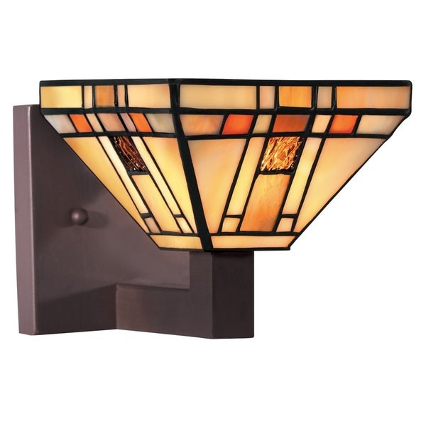 Transitional 1-light Hartford Bronze Wall Sconce