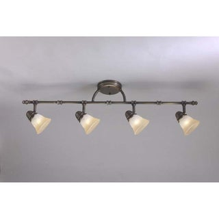 Link to Transitional Antique Brass 4-light Rail/ Semi-flush Fixture Similar Items in Track Lighting
