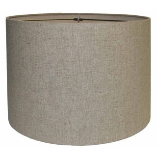 Round Hard Back Linen Beige Shade