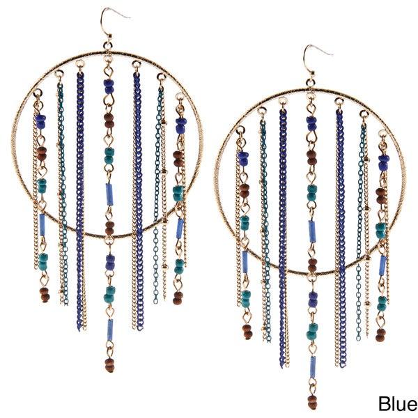 KC Signatures Goldplated Acrylic Beaded Bohemian Circular Earrings