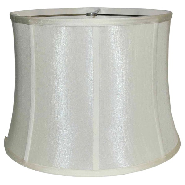 Ribbed Drum White Silk Shade