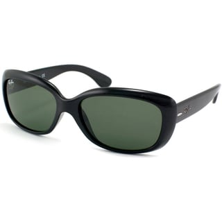 Black Ray Ban Sunglasses  ray ban jackie ohh rb4101 women's black frame green polarized lens sunglasses
