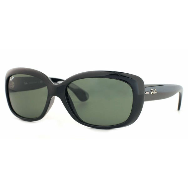 e3f10ce9a5 Ray-Ban Jackie Ohh RB4101 Women  x27 s Black Frame Green Lens Sunglasses