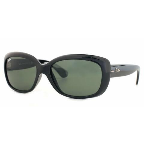 Ray-Ban Jackie Ohh RB4101 Women's Black Frame Green Lens Sunglasses