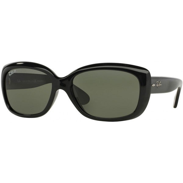 ray ban jackie ohh rb4101 womens black frame green lens sunglasses