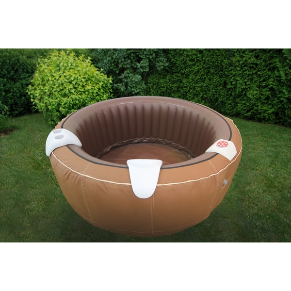 therapurespa faux leather portable inflatable hot tub free shipping today. Black Bedroom Furniture Sets. Home Design Ideas