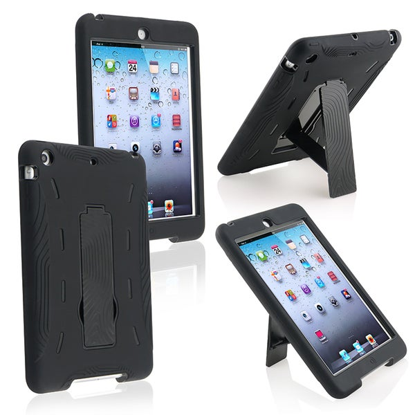BasAcc Black Hybrid Case with Stand for Apple iPad Mini