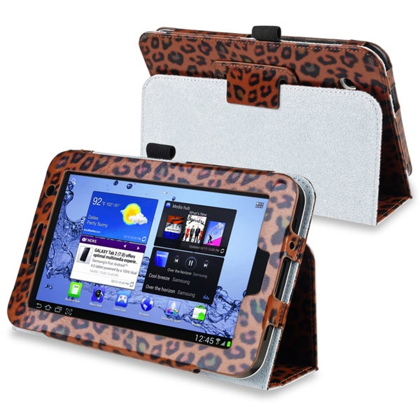 INSTEN Brown Leopard Tablet Case Cover for Samsung Galaxy Tab 2 7.0 P3100/ P3110