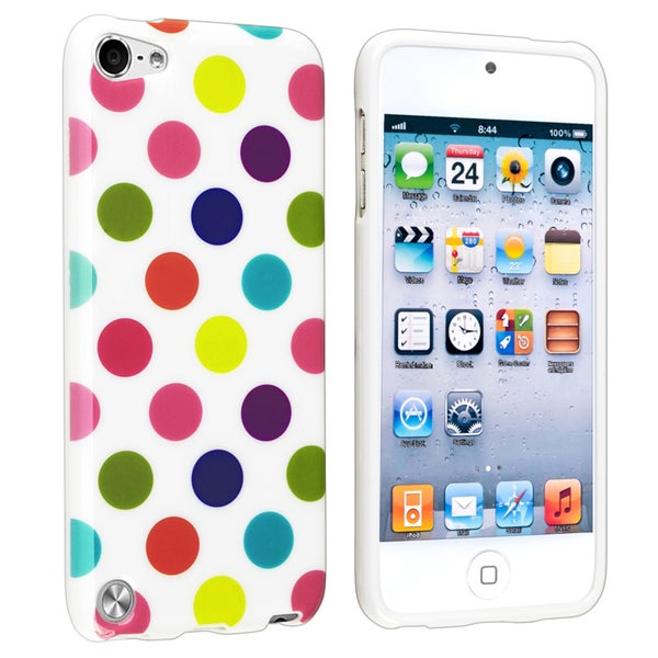 BasAcc White/ Color Dot IMD TPU Case for Apple iPod Touch Generation 5