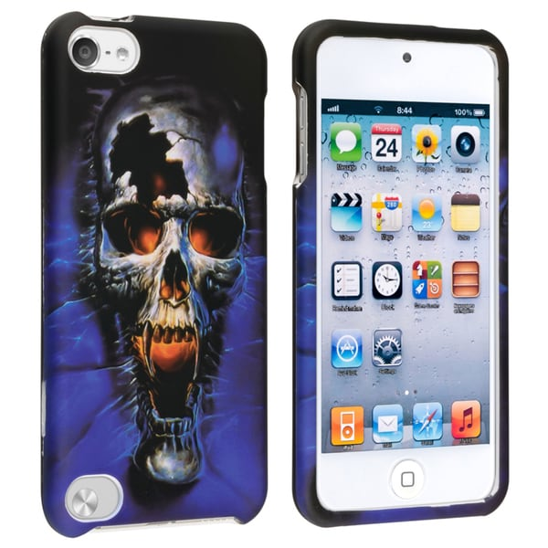 BasAcc Blue Skull Rubber Coated Case for Apple iPod Touch Generation 5