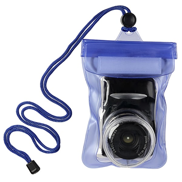 INSTEN Blue Waterproof Camera Phone Case Cover with Rope