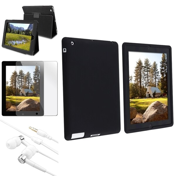 INSTEN Tablet Case Cover/ Soft Silicone Tablet Case Cover/ Protector/ Headset for Apple iPad 2