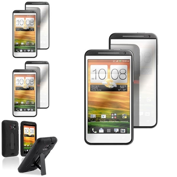 BasAcc Hybrid Case/ Mirror LCD Protector for HTC EVO 4G LTE