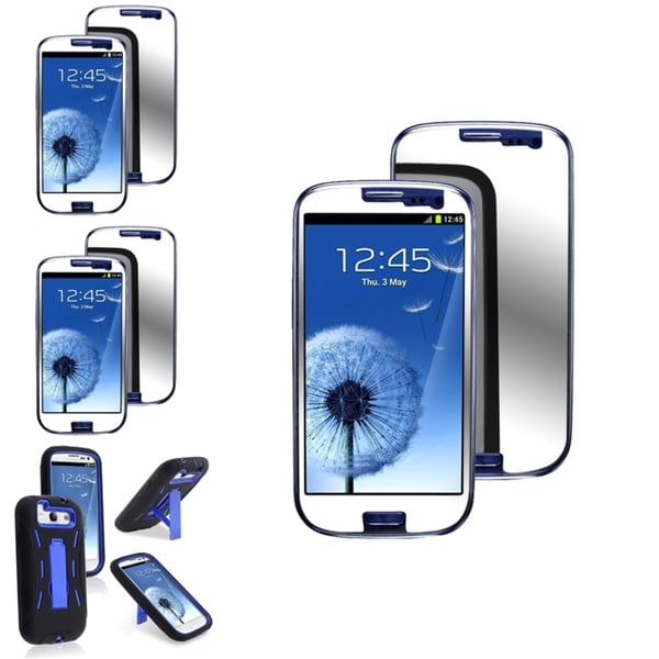 INSTEN Phone Case Cover/ Mirror Screen Protectors for Samsung Galaxy S III/ S3