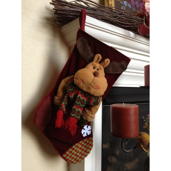 Winter Reindeer Christmas Stocking