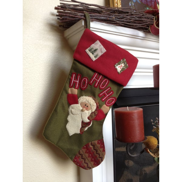 Happy Santa Christmas Stocking