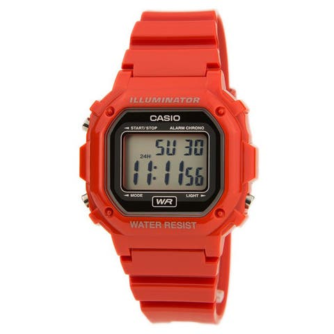 Casio Red Classic Casual Alarm Chrono with Black Digital Dial