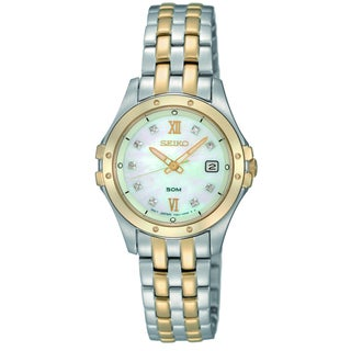 Seiko Women's SXDE22 Two-tone Stainless Steel Watch