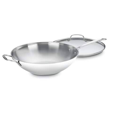 """Cuisinart Chef's Classic Stainless 14"""" Stir-Fry Pan"""