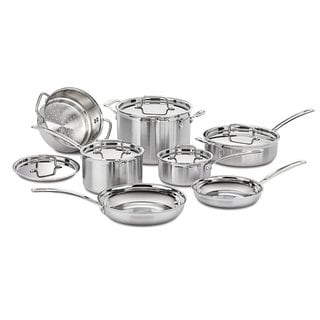 Link to Cuisinart Multiclad Pro Triple-ply Stainless Steel 12-piece Cookware Set Similar Items in Cookware