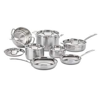 Cuisinart Multiclad Pro Triple-ply Stainless Steel 12-piece Cookware Set|https://ak1.ostkcdn.com/images/products/7587491/P15013573.jpg?impolicy=medium
