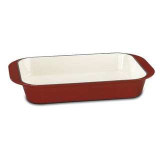 Red Chef's Classic Enamel Cast Iron 14 Roasting Lasagna Pan