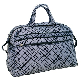 Jenni Chan Women's Blue Brush Strokes Carry On Soft Gym Duffel Bag
