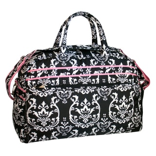 Jenni Chan Women's Damask 20-inch Carry On Soft Gym Duffel Bag