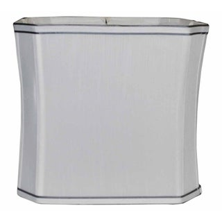 Square Cut Corner White Wash Silk Lampshade
