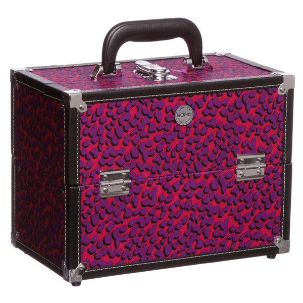 SOHO Berry Cheetah Beauty Case