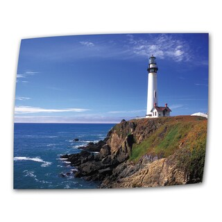 Kathy Yates 'Pigeon Point Lighthouse' Small Canvas Art - Multi