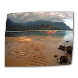Kathy Yates 'Hanalei Bay at Dawn' Traditional Canvas Art