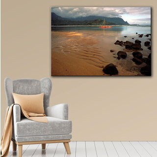 Kathy Yates 'Hanalei Bay at Dawn' Canvas Art