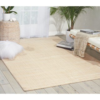 Nepal Lines Ivory Rug (7'9 x 10'10)