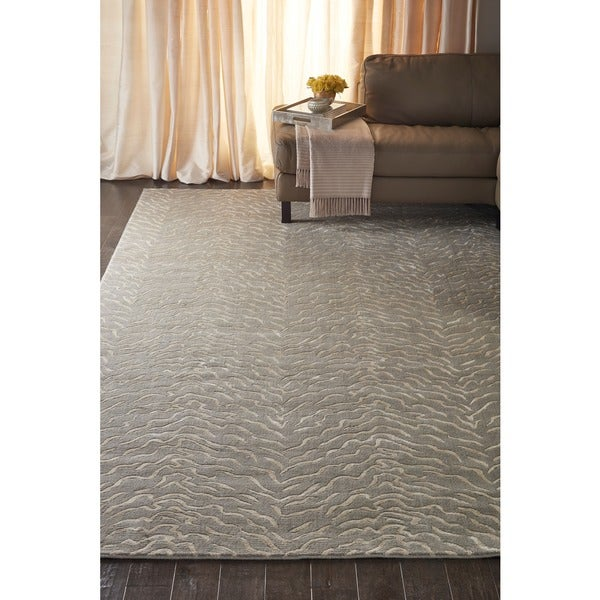 Nepal Quartz/ Grey Rug - 5'3 x 7'5