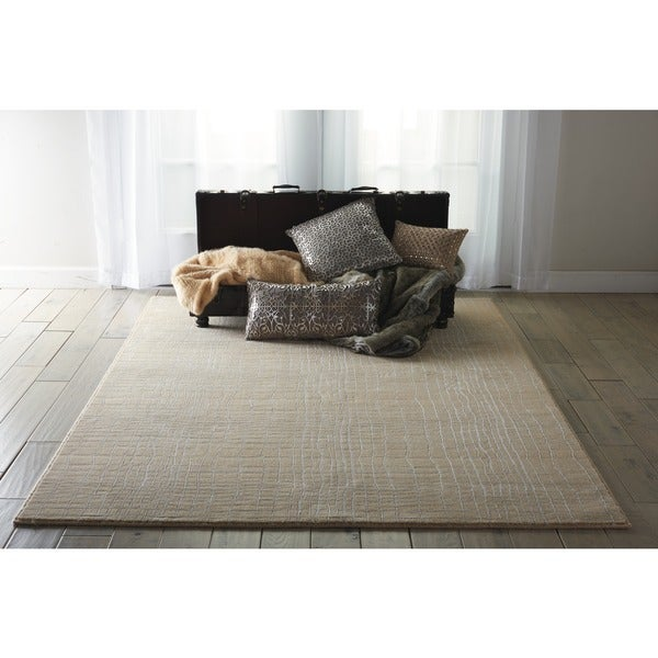 Nepal Curved Lines Manil Rug (3'6 x 5'6)