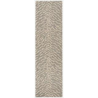 Nepal Quartz/ Grey Runner Rug (2'3 x 8')