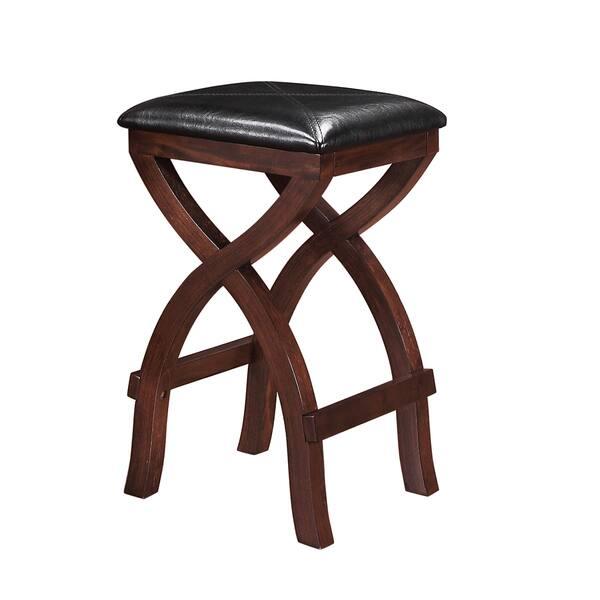 Excellent Shop Jaidyn Espresso X Base 24 Inch Backless Counter Height Beatyapartments Chair Design Images Beatyapartmentscom