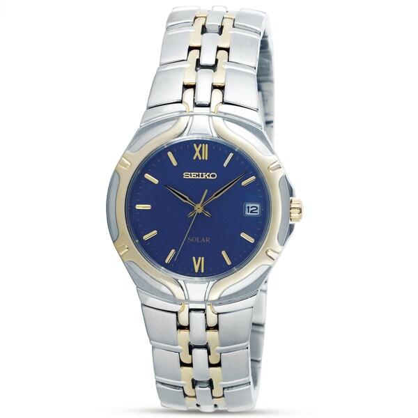 Seiko Men's Two-tone Steel Solar Watch