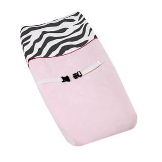 Sweet JoJo Designs Pink Funky Zebra Changing Pad Cover