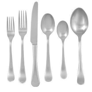 Ginkgo 'Bergen' Stainless Steel 42-piece Flatware Set