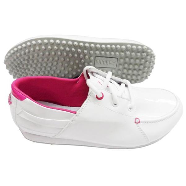 Puma Ladies White 'PG Captain' Golf Shoes