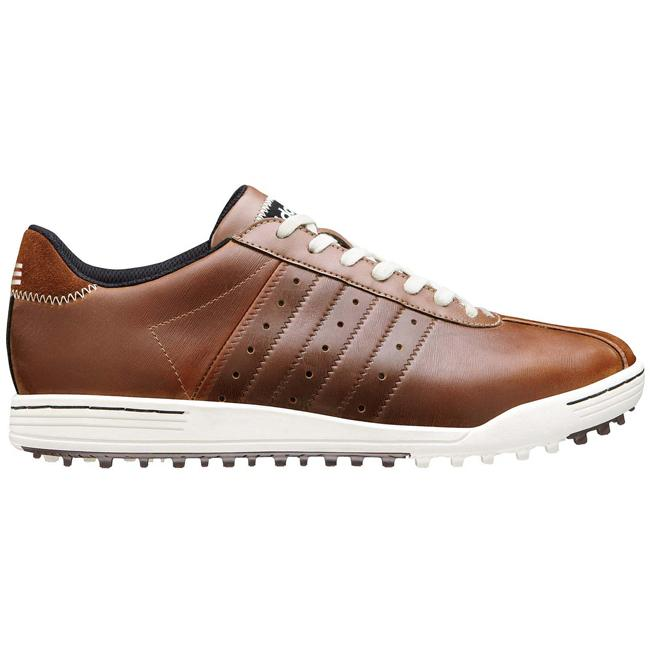 Calvo básico Continuar  Adidas Men's 'Adicross' Brown Leather Golf Shoes - Overstock - 7588259