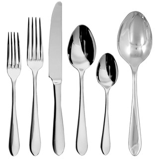 Ginkgo Linden 42-Piece Stainless Steel Flatware Set