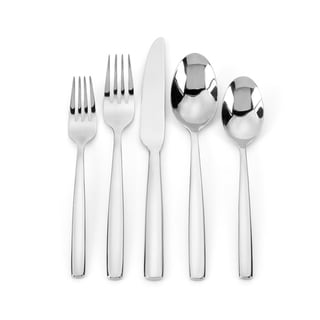 Ginkgo Simple 42-piece Stainless Steel Flatware Set