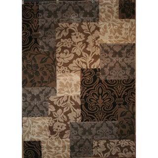 Vintage Damask Brown Rug (5'3 x 7'3)